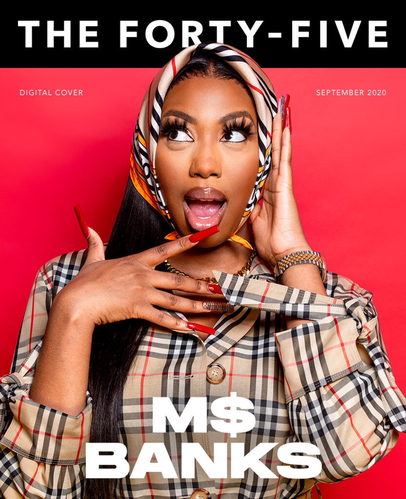 Ms Banks magazine cover | The Forty-Five photoshoot