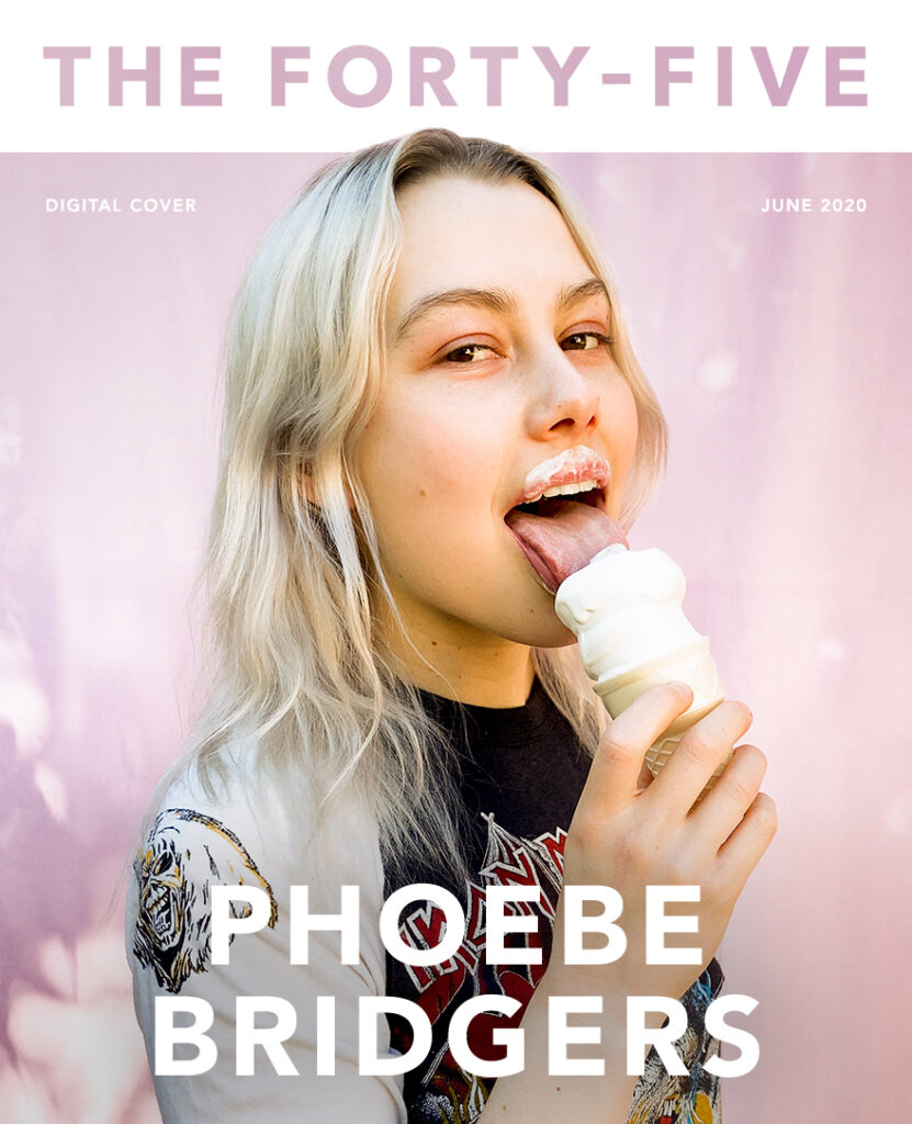 Phoebe Bridgers magazine cover The Forty-Five | ice cream