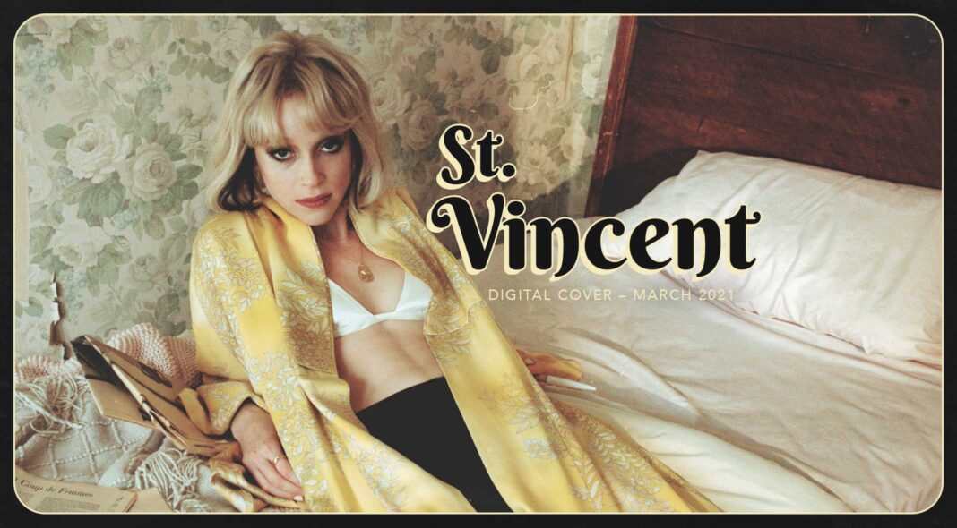 St Vincent interview magazine cover